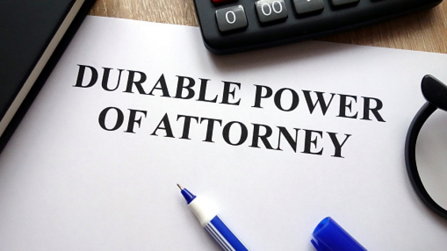 Durable power of attorney document